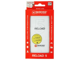 (s99) Φορτιστής power bank BATTERY USB 5000mA με 1 θύρα USB RELOAD5  skross 1.302166
