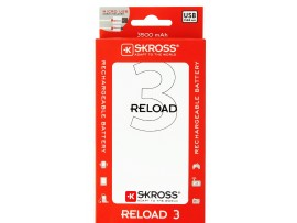 (s20) Φορτιστής power bank BATTERY USB 3500mA με 1 θύρα USB RELOAD3  skross 1.302168
