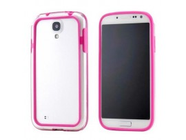 θήκη σιλικόνης TPU Bumper Cyoo samsung Galaxy i9500 i9505 i9515 S4, value edition διαφανές ροζ T113603