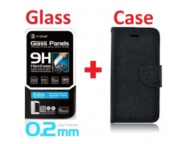 θήκη book fancy case και Tempered Glass -0,22mm της X-ONE προστασία οθόνης Screen Protector iphone 6, 6s plus 5.5'' 5901737272720