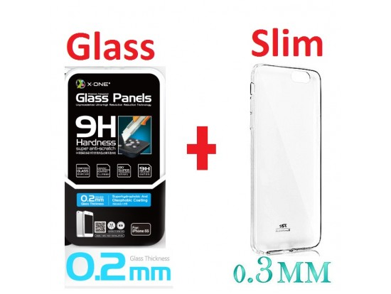 Tempered Glass KAI θήκη slim 0.3mm Roar, Tempered Glass -0,22mm της X-ONE προστασία οθόνης Screen Protector iphone 6 s plus 5.5'' 5901737250490