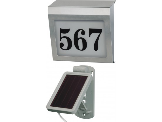 (b) Brennenstuhl Illuminated House Number Solar Power SH 4000 E, Brennenstuhl 1179850