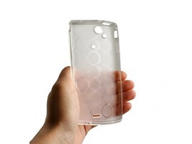 Silicon Case TPU Transparent Black Bulk fur SonyEricsson Xperia Arc / X12 -Circles *SALE* , OEM T110116