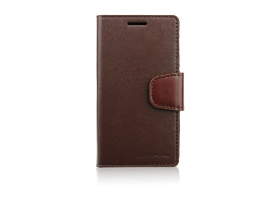 Galaxy S6 Case, SONATA Diary Wallet Case, Soft Synthetic Leather [Card Slots & Cash Compartment] , Δερμάτινη θήκη Leather case BOOK για samsung galaxy  S6 G920 καφέ της goospery 5901737263087